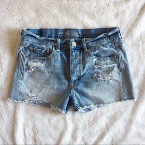 American Eagle Distressed high waist shorts